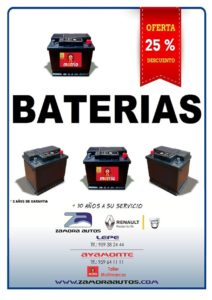 Oferta cambio baterias